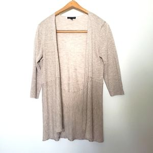 Eileen Fisher Oatmeal Linen cardigan extra small